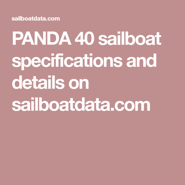 PANDA 40 sailboat specifications and details on sailboatdata.com
