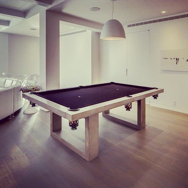 James De Wulf creates amazing concrete-couture; using advanced concrete technology with aesthetic, modern, and natural concrete forms to constitute functional art. #mydesignsource #manufacturer #luxurydesign #JamesDeWulf #pooltable #gamesroom