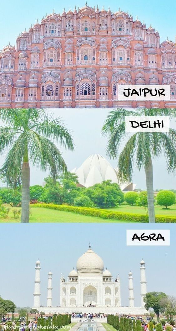 Golden Triangle India itinerary as DIY tour by train, bus, taxi 🚊 Backpacking India | Flashpacking Kerala -  India travel tips for Golden Triangle India in south Asia. Jaipur to Delhi to Agra with Taj Mahal v - #backpacking #bus #DIY #Flashpacking #golden #IncredibleIndia #india #itinerary #kerala #Museums #taxi #Tour #train #triangle