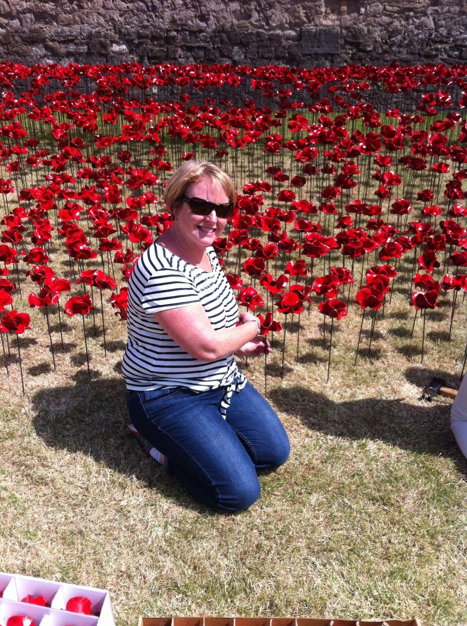 Planting WW1 commemorative poppies at the Tower (July)