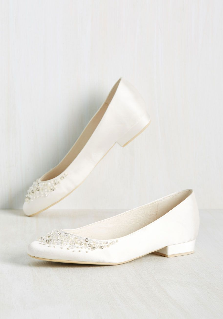 Wedding dress flats  Move over opulent pumps  these ivory flats are shaking up the