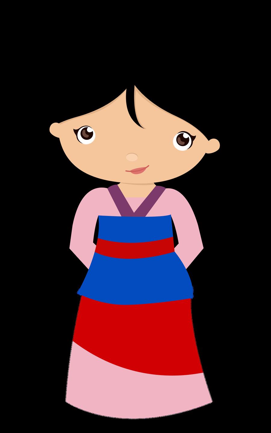 Minus Say Hello Clip Art Mulan Princess