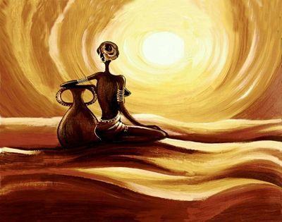 Hand Painted Oil Painting On Canvas Abstract African Women Oil ...