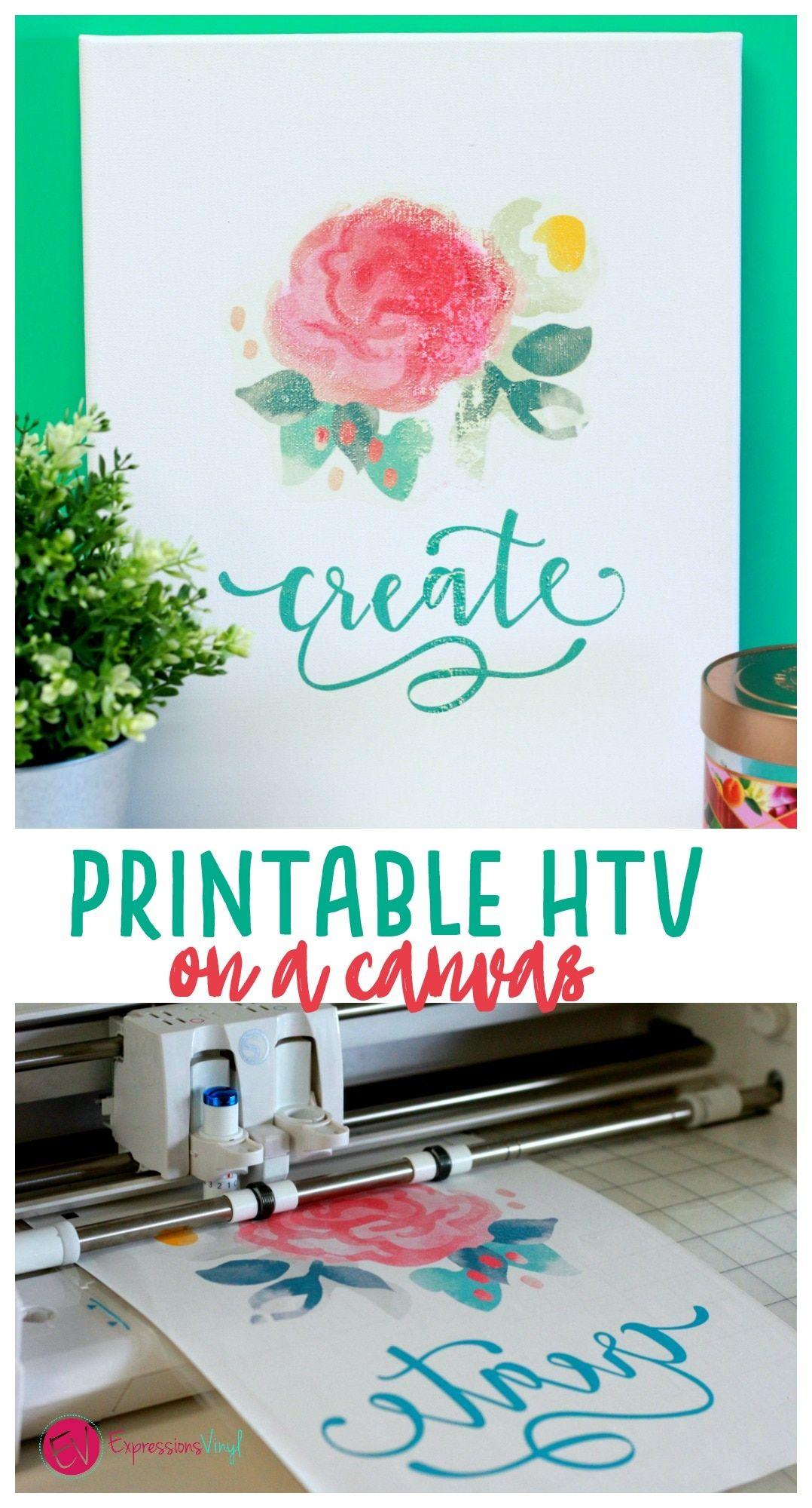 picture regarding Printable Iron on Vinyl called Printable HTV upon canvas Cricut tasks Printable htv