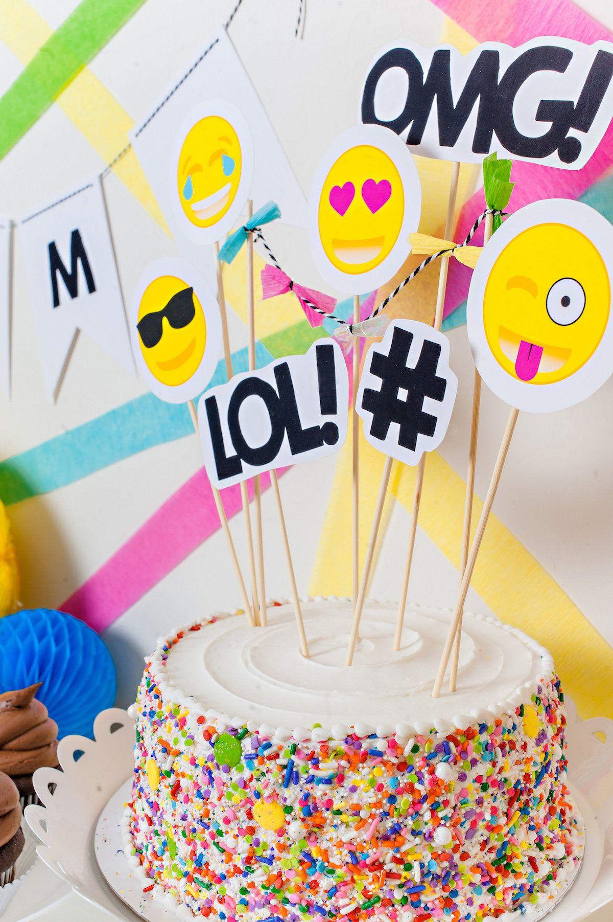 Emoji Themed Birthday Party Tutorial