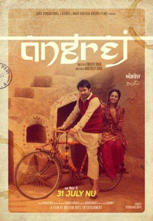 Poster Of Angrej (2015) Full Punjabi Movie Free Download Watch Online
