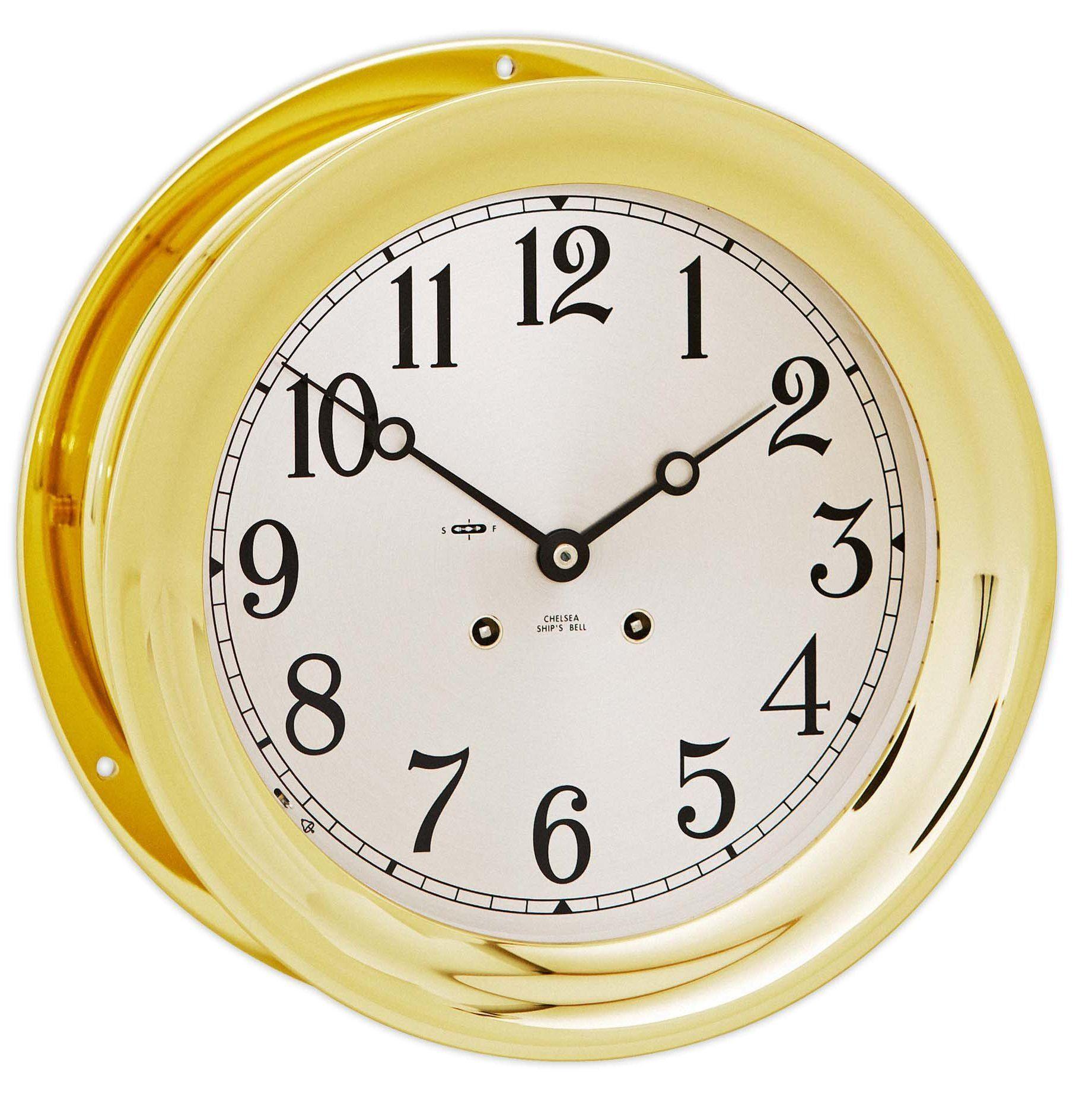Chelsea Ship S Bell Clock 8 5 Brass Chelsea Clock Clock Luxury Clock