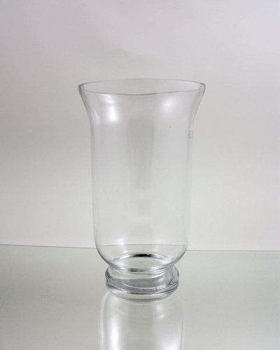 Clear Good Quality Hurricane Glass Vase Candle Holder Open 8