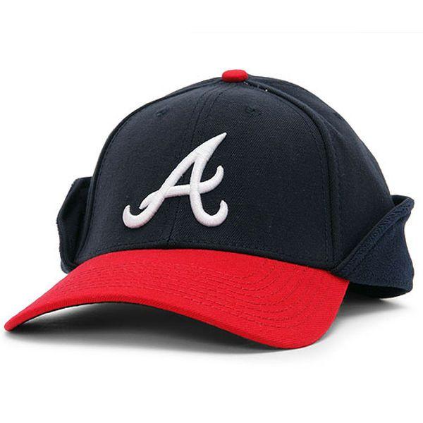 d969f67cc66 Men s Atlanta Braves New Era Navy Downflap 39THIRTY Flex Hat