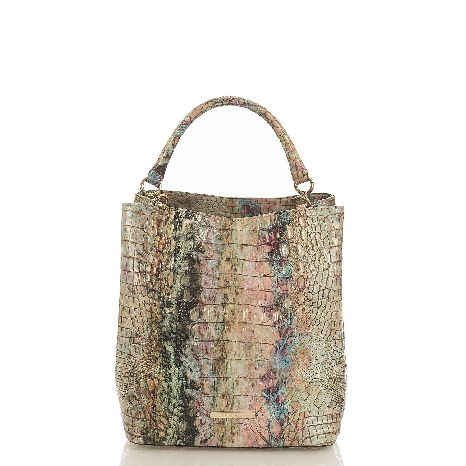 5ffe412e4f73 The Amelia is a classic bucket bag. Brahmin Opal 10 16 18