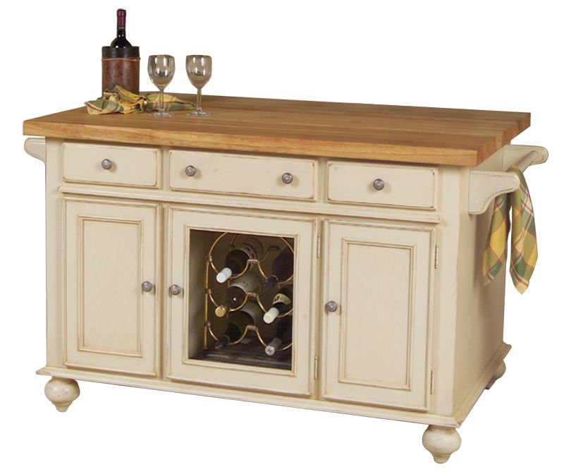 Beautiful Portable Kitchen Islands Part - 11: Mobile Kitchen Island With Drop Leaf