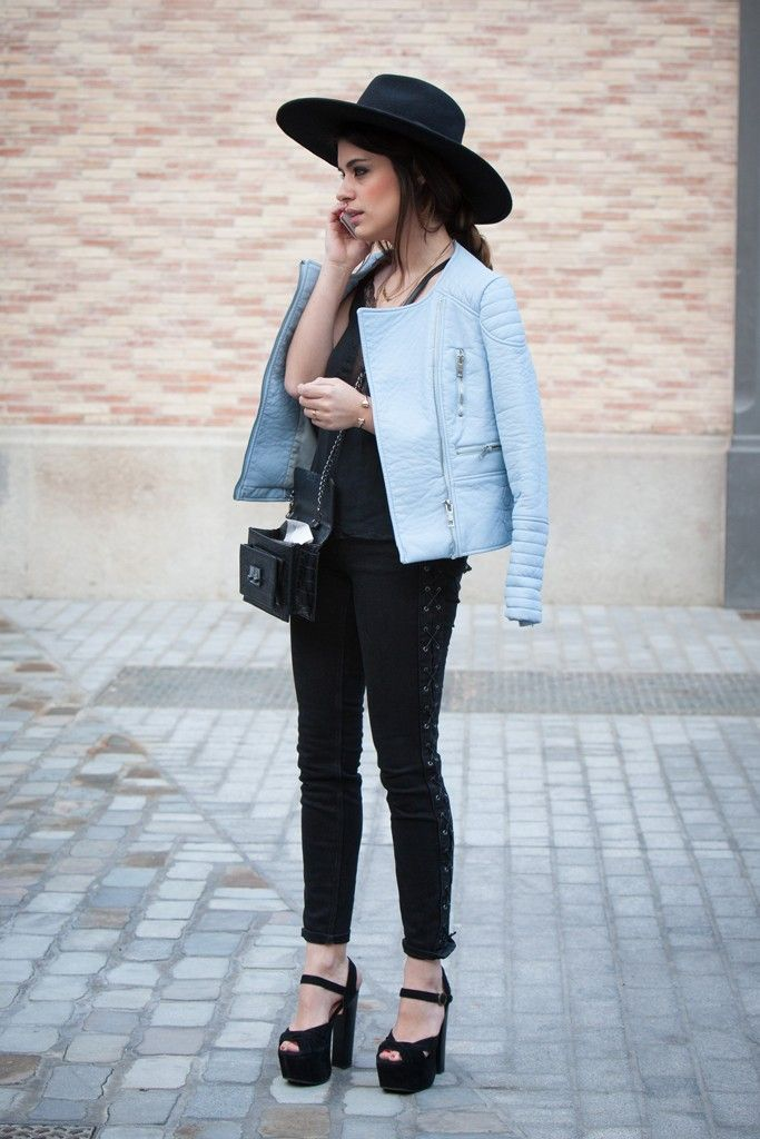 They Are Wearing: Barcelona | Baby blue, Street styles and Street