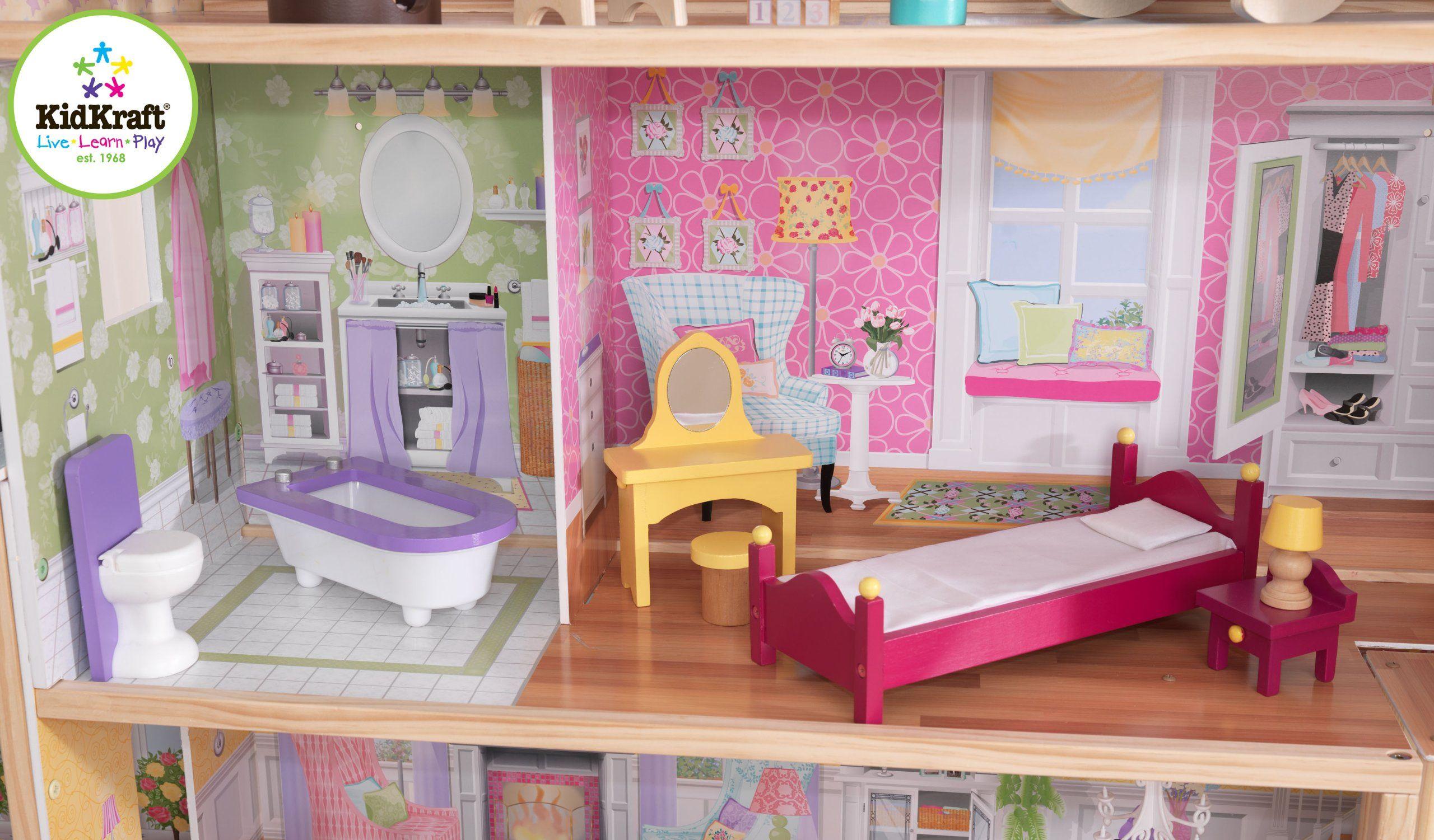 Amazon Com Kidkraft Majestic Mansion Dollhouse With Furniture Toys