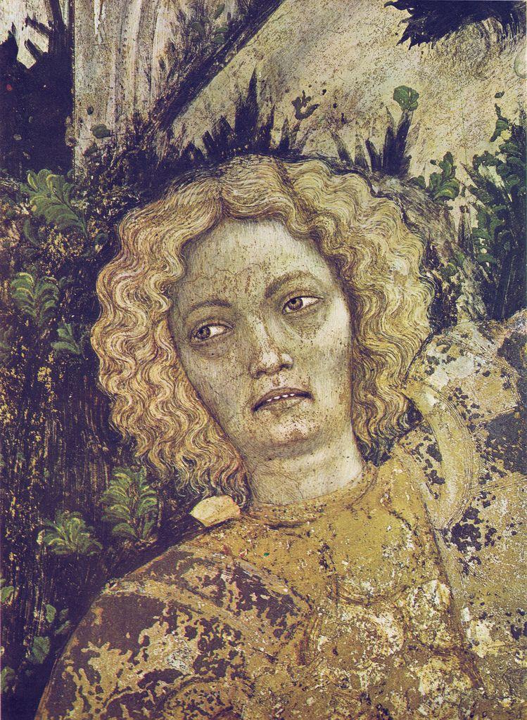 Pisanello - San Giorgio e la principessa (dettaglio) - affresco staccato - 1436-1438 - Chiesa di Sant'Anastasia, Verona