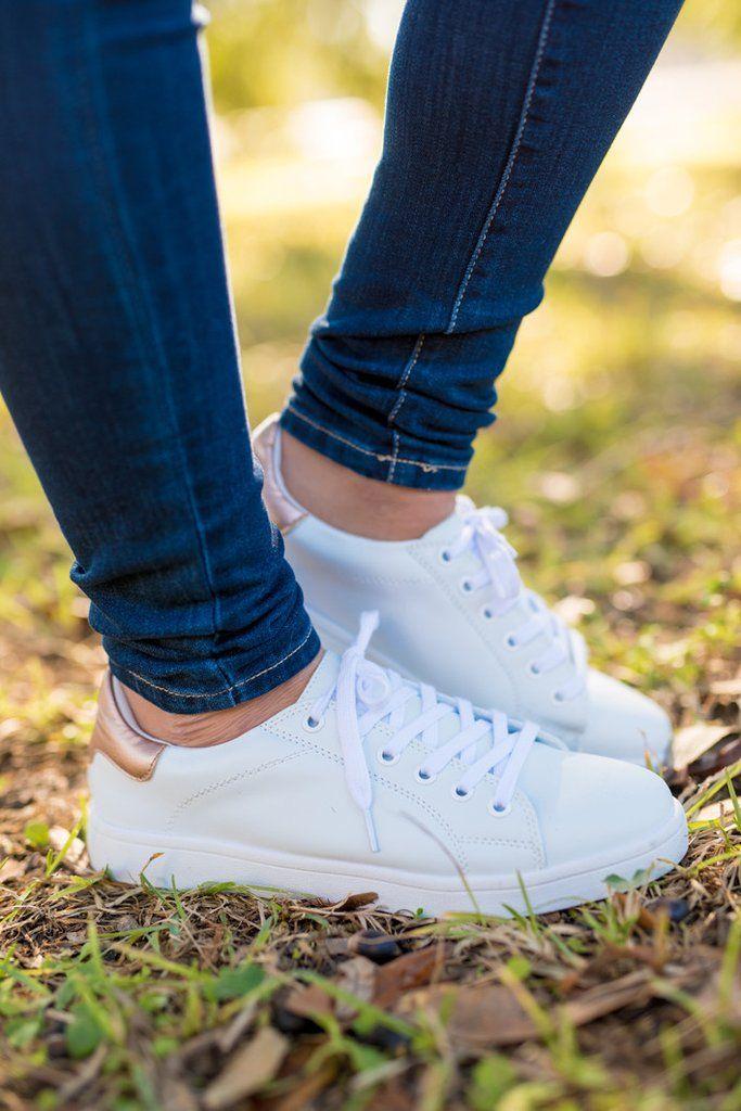 White shoes, White sneakers