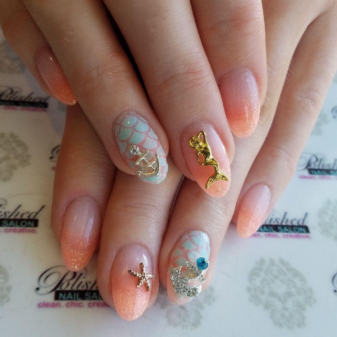 Mermaid Nails Mermaid Nails Best Nail Salon Nails