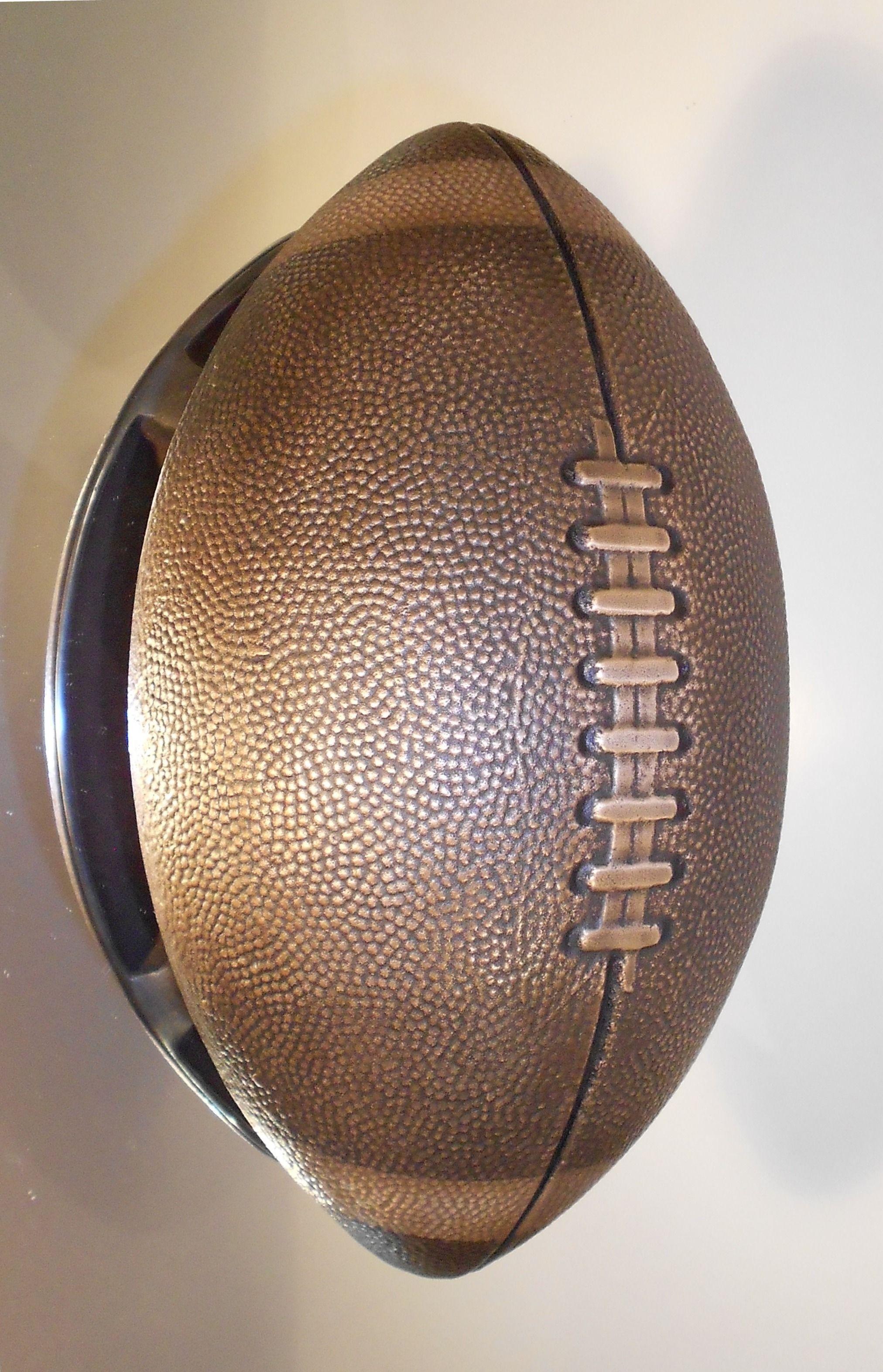 Football Door Pull, Cast In Bronze