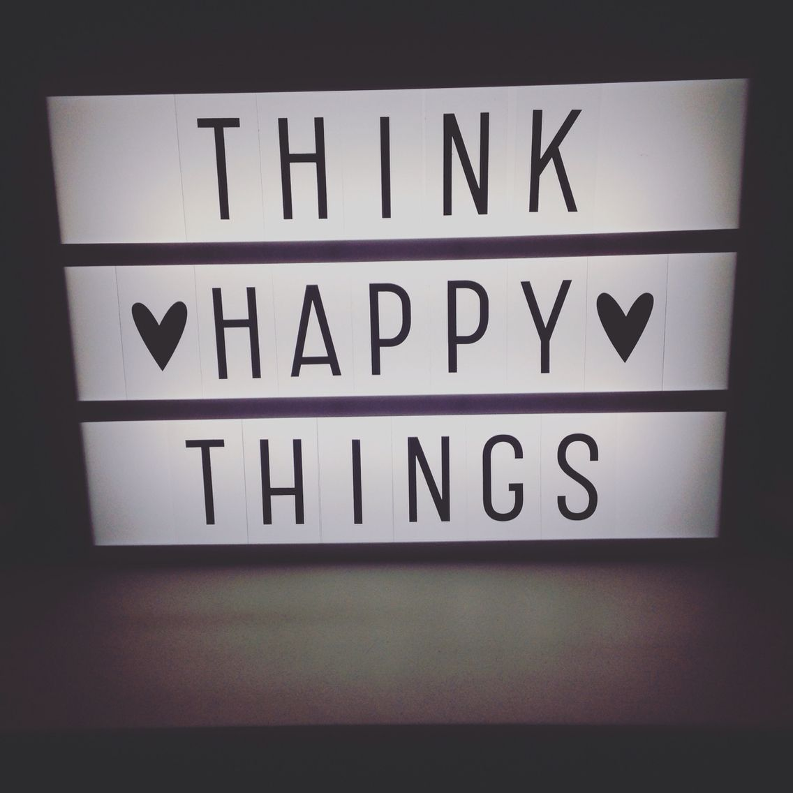 Think Happy Things Heidi Swapp Light Box Motivation For A Gloomy