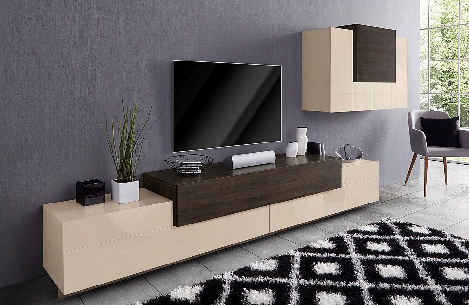 Tecnos Wohnwand »Asia« (2-tlg) Jetzt bestellen unter   - wohnzimmer design schwarz