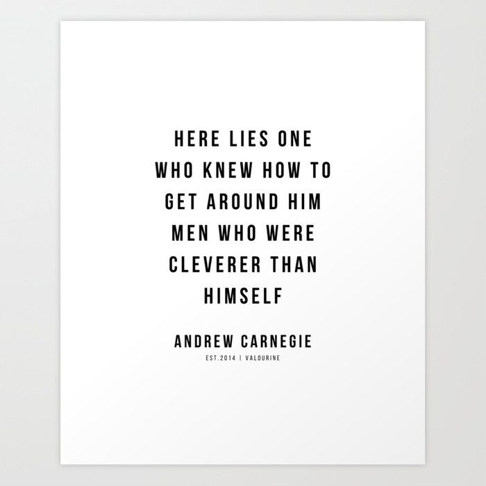 20 |Andrew Carnegie Quotes | 21010 | Motivational Inspirational Success Quote Personal Development Business Coach Art Print by Wordz