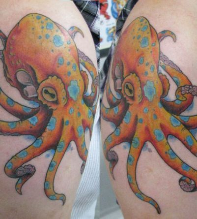 Octopus Tattoos - Tattoos.net I think I want an octopus tattoo, so unique.