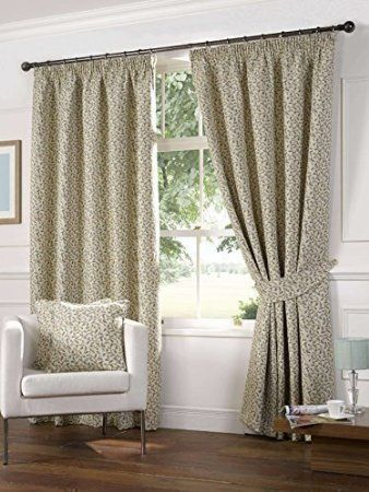 Floral duck egg blue 90x90 tapestry heavyweight pencil for Living room curtains 90x90