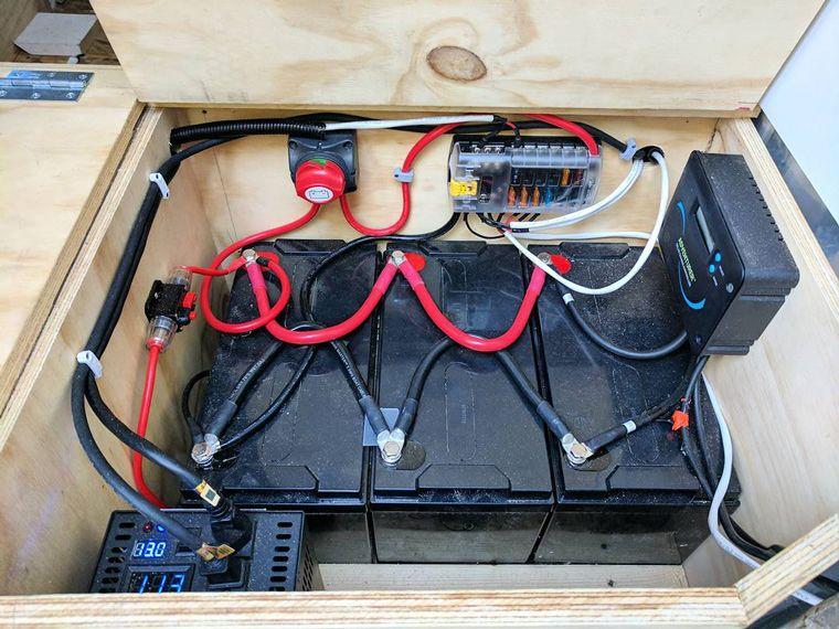 Best battery for solar storage camper van camper van