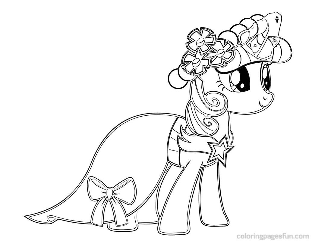 My Little Pony Fluttershy Ausmalbilder : My Little Pony Coloring Pages Twilight Sparkle Castle My Style