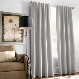 WholeHomeR MD 2 Pack Claudette Foam Back Pinch Pleated Drapes