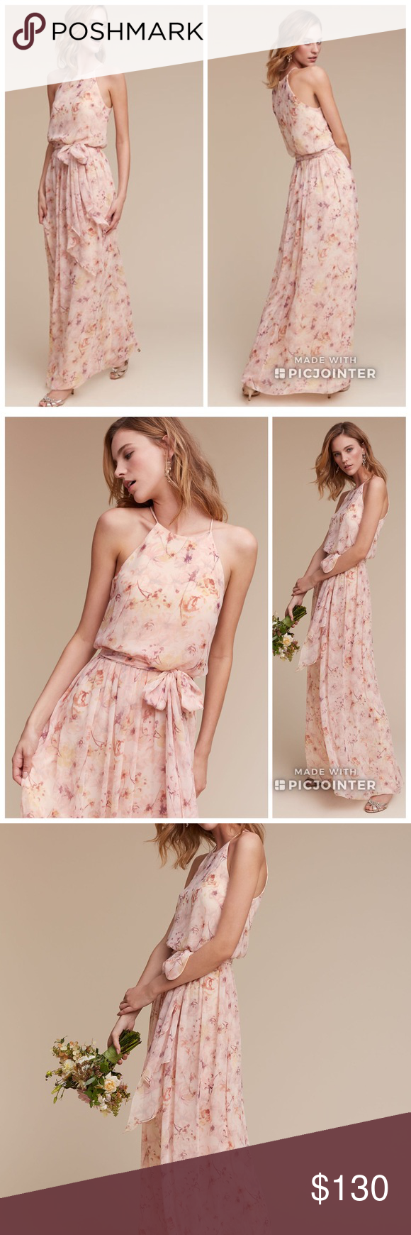 67908c9d77ee BHLDN Alana Blush Wildflower 6 Maxi Dress New. Size 6. Blush Wildflower  color.