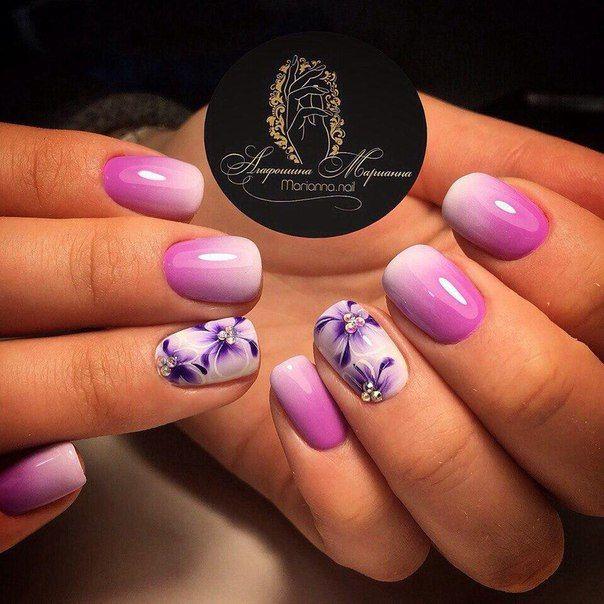 Маникюр | Видеоуроки | Art Simple Nail | Purple nail art ...