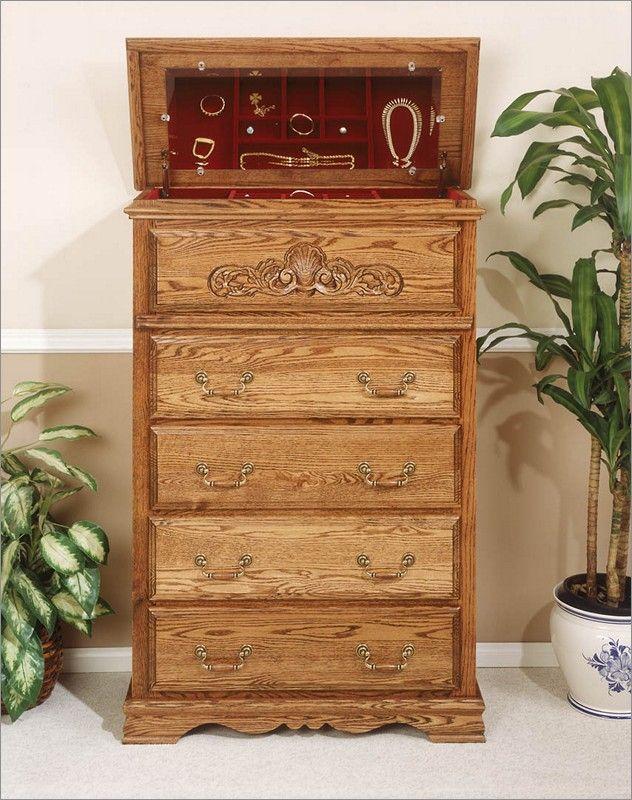 Bebe Furniture Country Heirloom Jewelry Mirror with Hidden ...