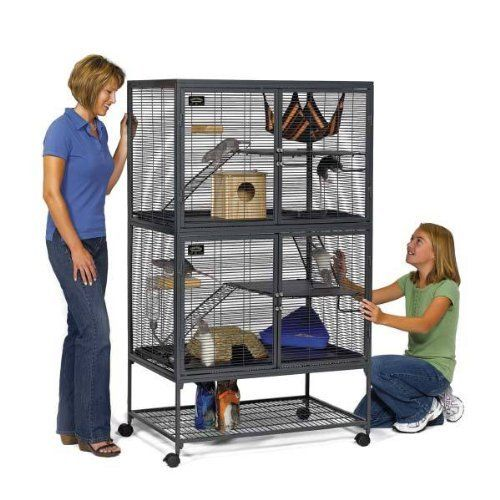 Midwest Critter Nation Animal Habitat With Stand Double Unit 36 Inches By 24 Inches By 63 Inches Critter Nation Cage Small Animal Cage Pet Cage
