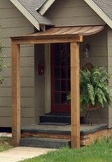 Small copper covered porch (With images)   House awnings ...