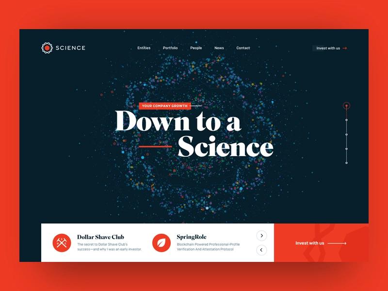 Science Venture Capital Website Header Website Header Design Corporate Website Design Website Header