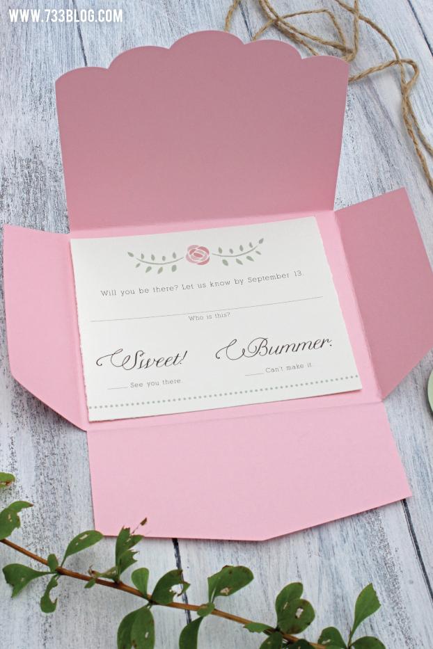 DIY Rustic Wedding Invitations Cricut wedding