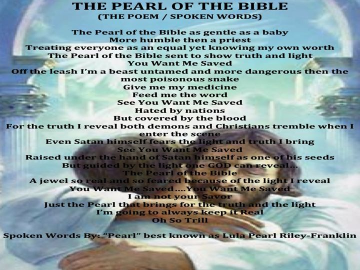 The Pearl of the Bible...Poem