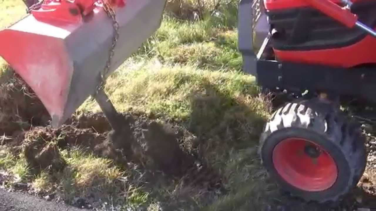 Homemade trencher digging trench for cables | Homemade
