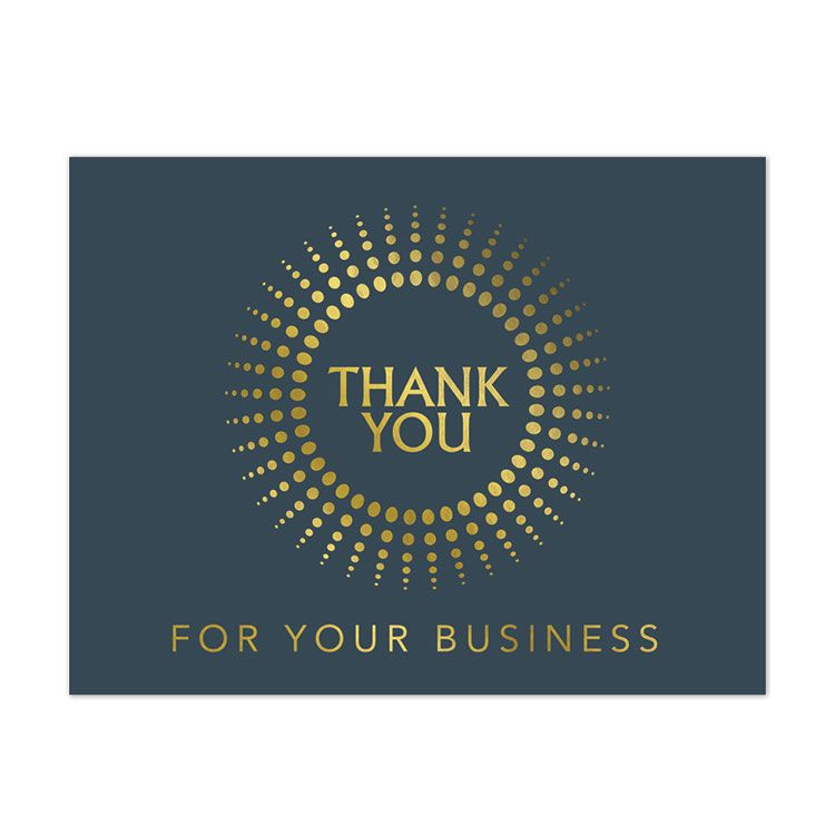 Gold Burst Personalized Thank You Card | On The Ball Promotions ...