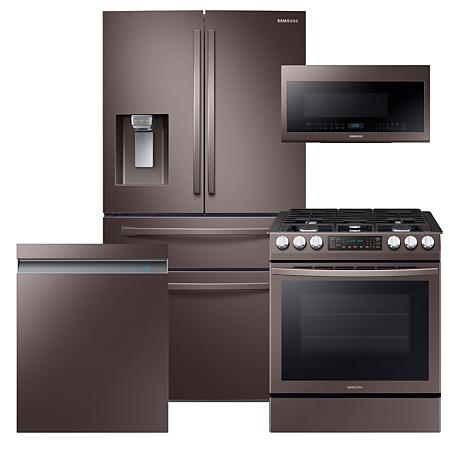 SAMSUNG Tuscan Kitchen Bundle with Refrigerator, Range
