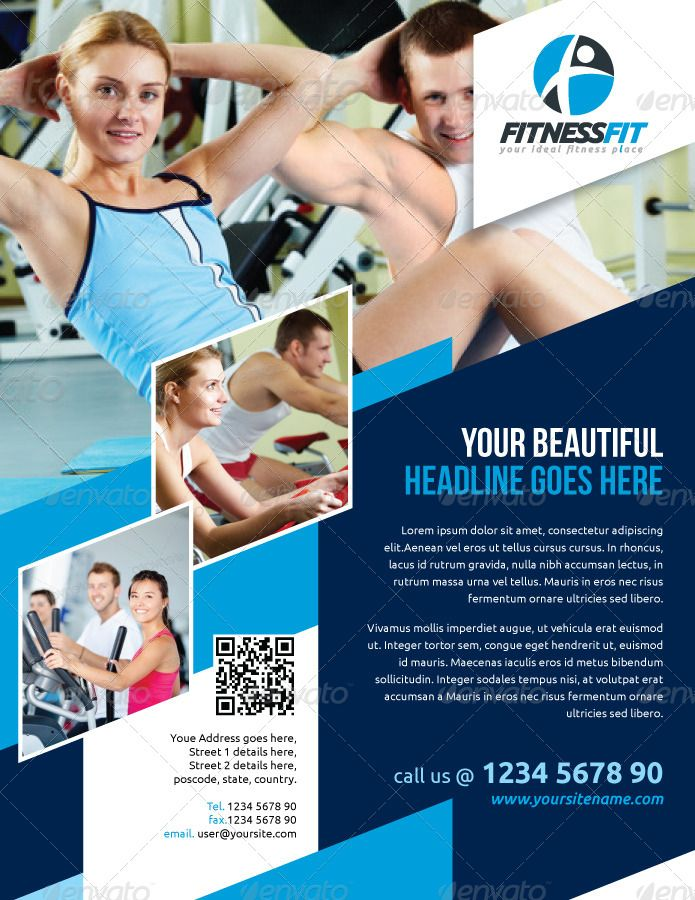 Fitness Flyer  Google   Inspire Fitness    Yoga