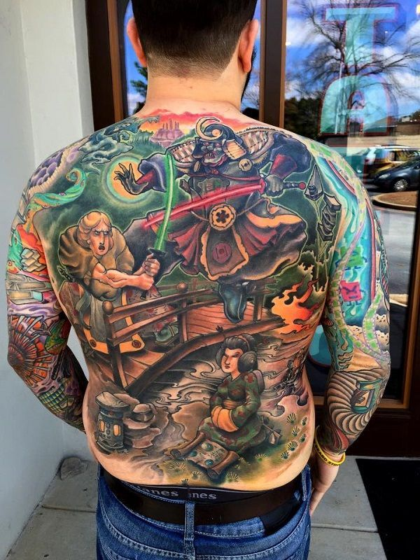 http://geektyrant.com/news/star-wars-back-tattoo-depicts-characters-in-feudal-japanese-style
