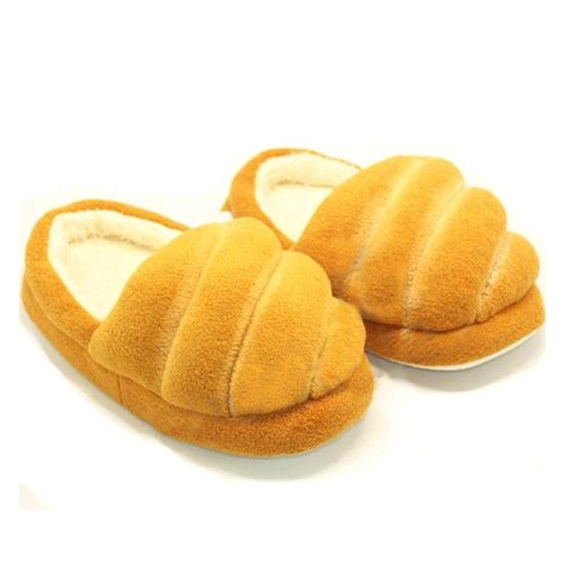 Creative Simulation Bread Slippers Baguette/French Bread/Caramel Bread Funny House Shoes Slippers