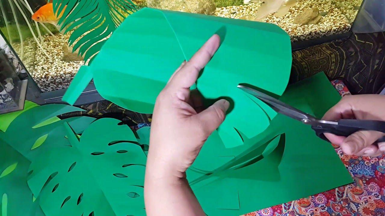 Hojas de cartulina   YouTube   Arte con hojas de palmera ...