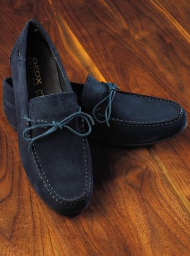 Sustancialmente textura Terrible  Geox Moccasins in Navy Suede | Dress shoes men, Loafers men, Geox shoes