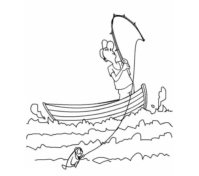Fishing Boat Coloring Pages Di 2020