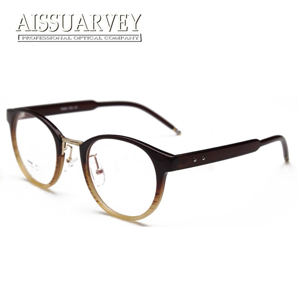 Glasses Frame Women Men Round TR90 Fashion Brand Designer Eyeglasses ...