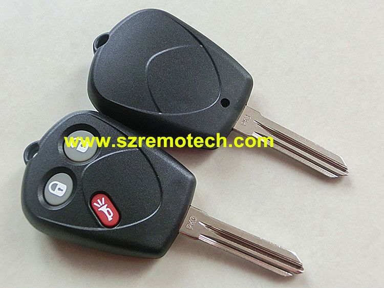Fit 2005 2009 Saab 9 7x Remote Key Case Fob 3 Button Pk3 Blade For Sfu1008552 Affiliate Saab 9 7x Fobs Key Blank