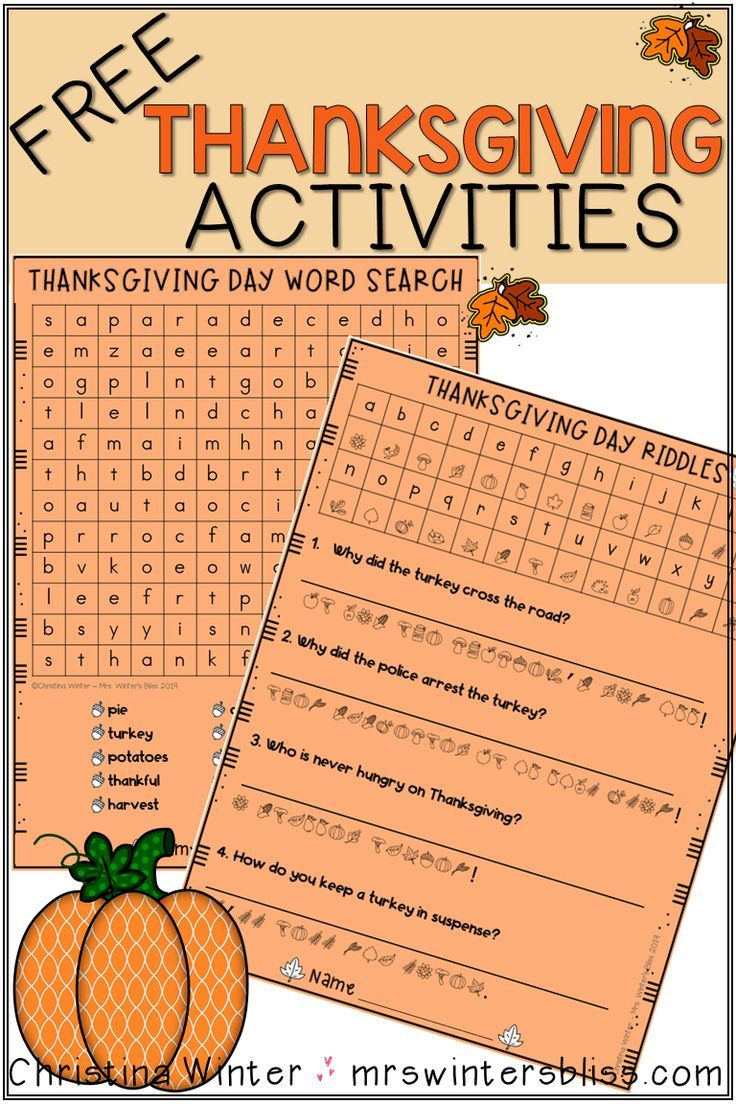 Awesome Thanksgiving Ideas for the Classroom Thanksgiving Poems For Kids Today From mrswintersbliss.com
