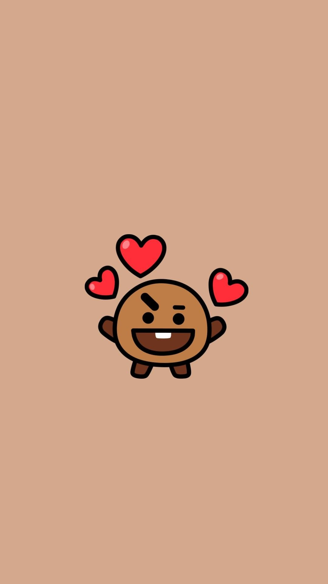 Bt21 Shooky Ilustrasi Karakter Boneka Hewan Gambar Hewan Lucu